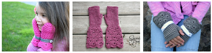 Shelby Mittens and Gloves Crochet pattern by Sincerely, Pam