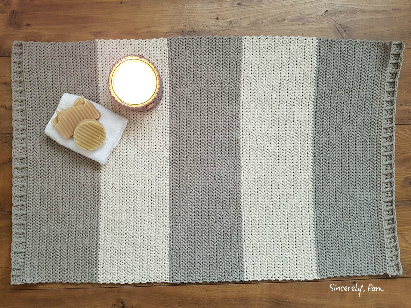 herringbone bath mat crochet pattern