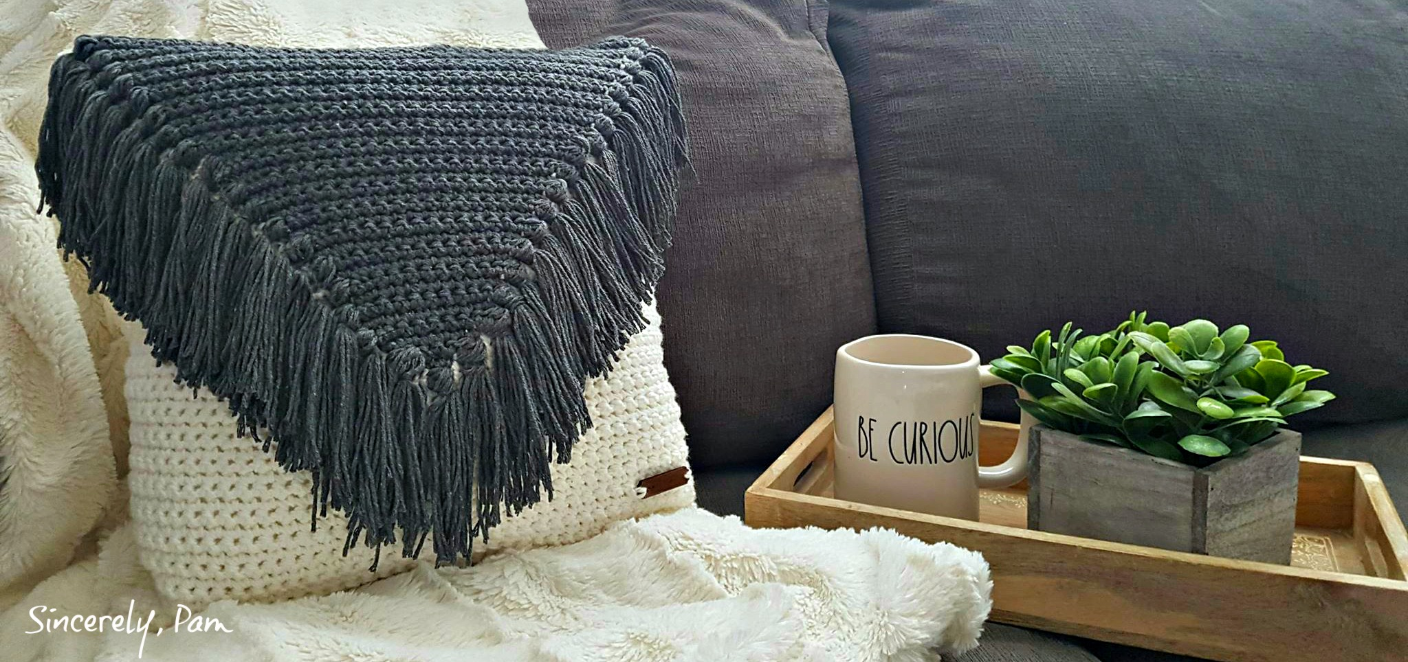 My Favorite Pillow crochet pattern by Sincerely, Pam