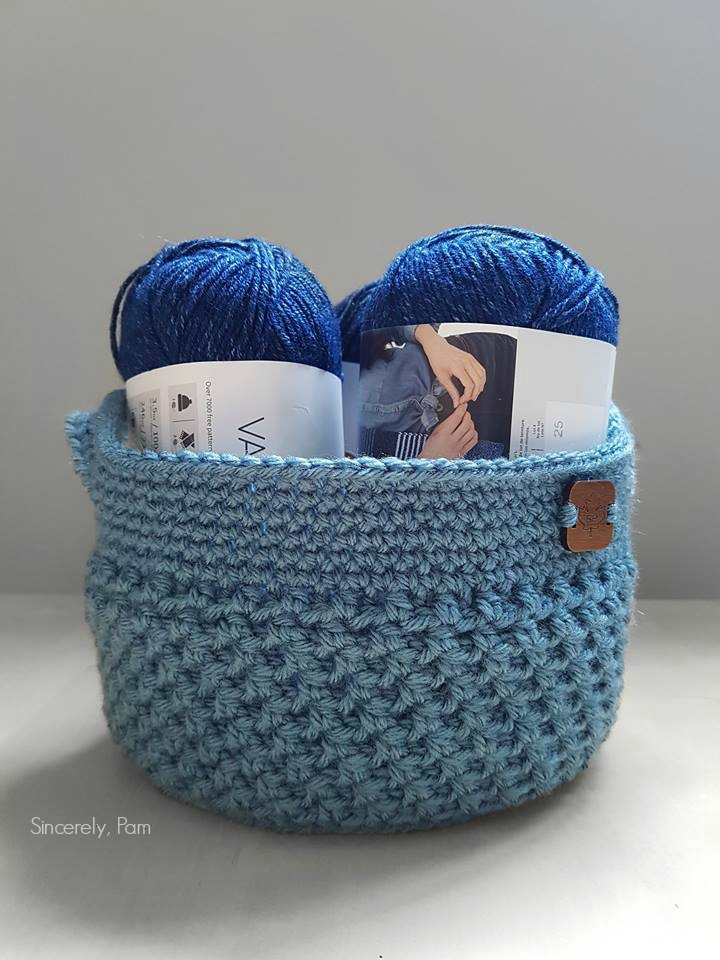 Lansdowne Basket crochet along pattern
