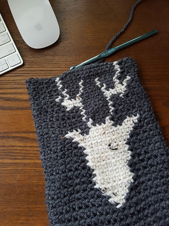 Reindeer Stocking progress pic