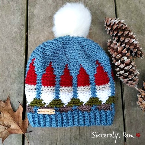 Gnome Hat Crochet Pattern by Sincerely, Pam