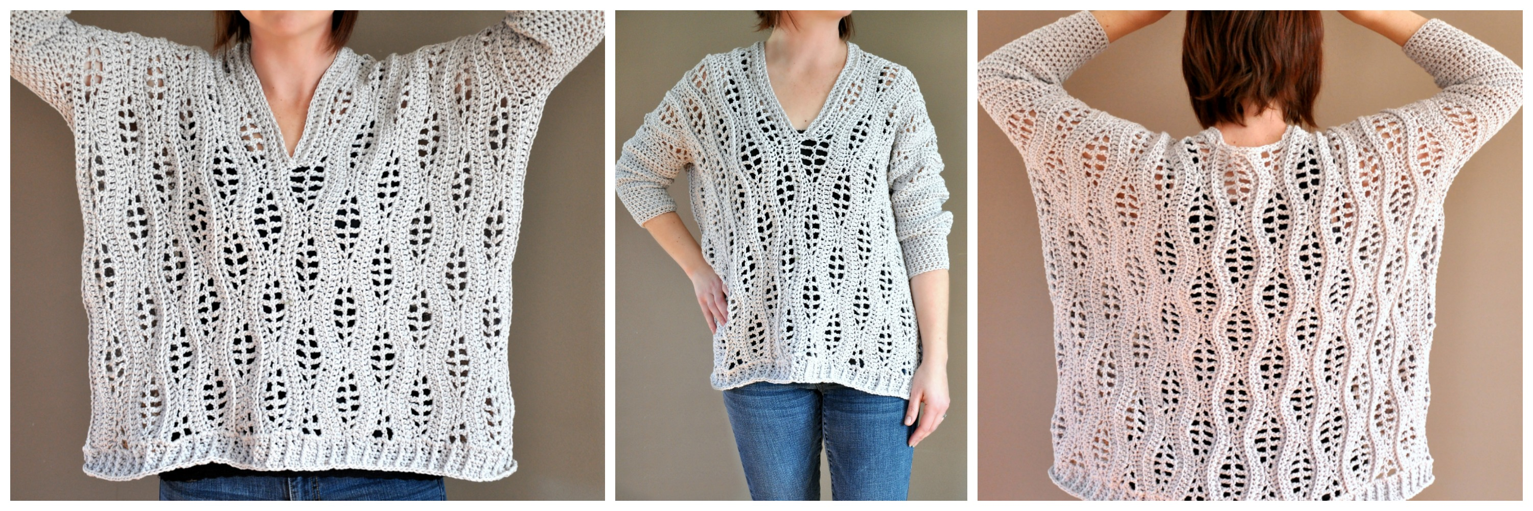 Salena Sweater crochet pattern by Sincerely, Pam