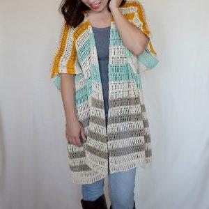 Bahama Mama Ruana crochet pattern by Hooked on Homemade Happiness