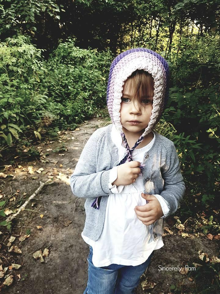 Easy Peasy Bonnet crochet Pattern by Sincerely, Pam