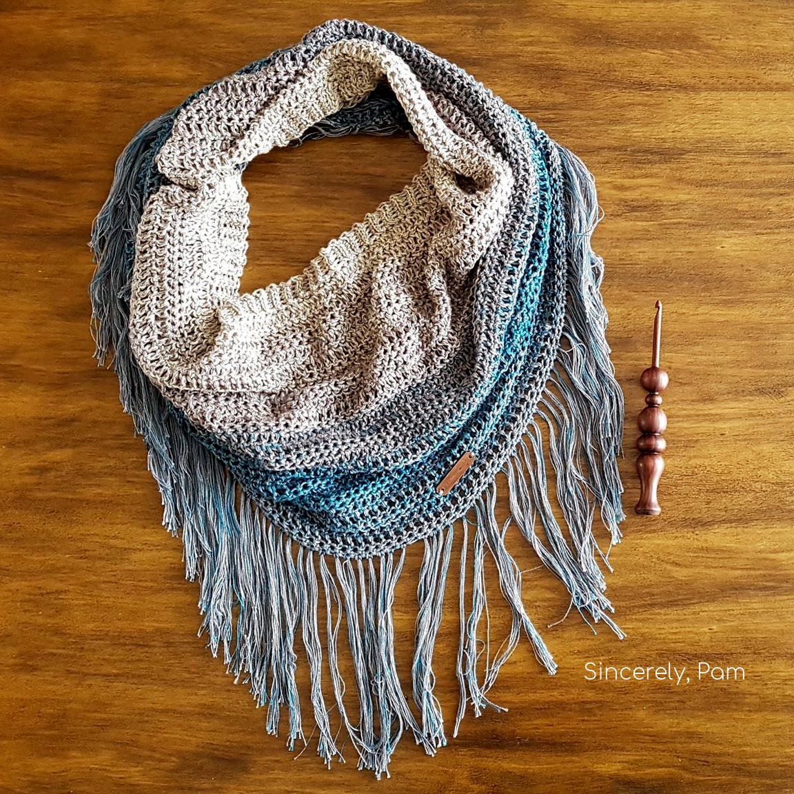 Charlottetown Cowl free Crochet pattern by Sincerely, Pam