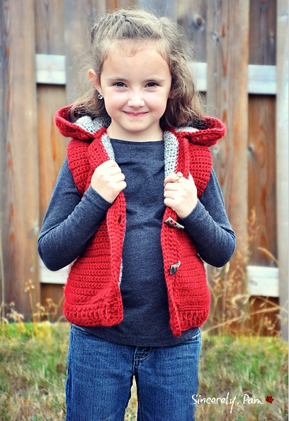 Marek Vest crochet pattern by Sincerely, Pam