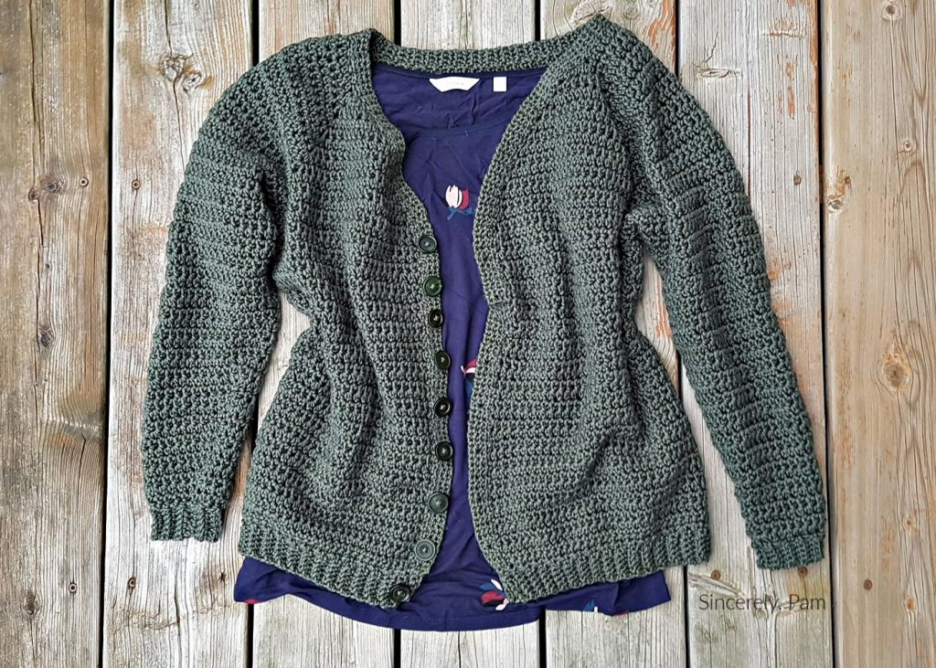 Morrison Cardigan Crochet pattern by Sincerely, Pam