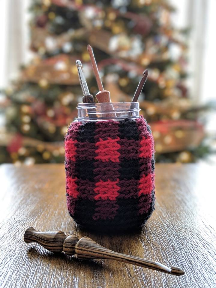 Buffalo Plaid Cozy crochet pattern by Sincerely, Pam