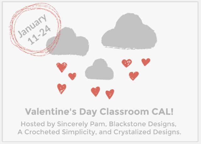 Valentine's Day Classroom Crochet Along, 2019!