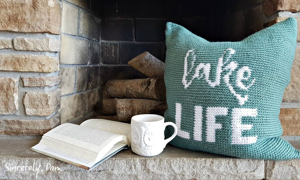 lake life pillow free tapestry crochet pattern by sincerely pam