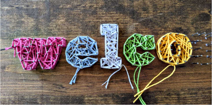 string art yarn art tutorial by sincerely pam