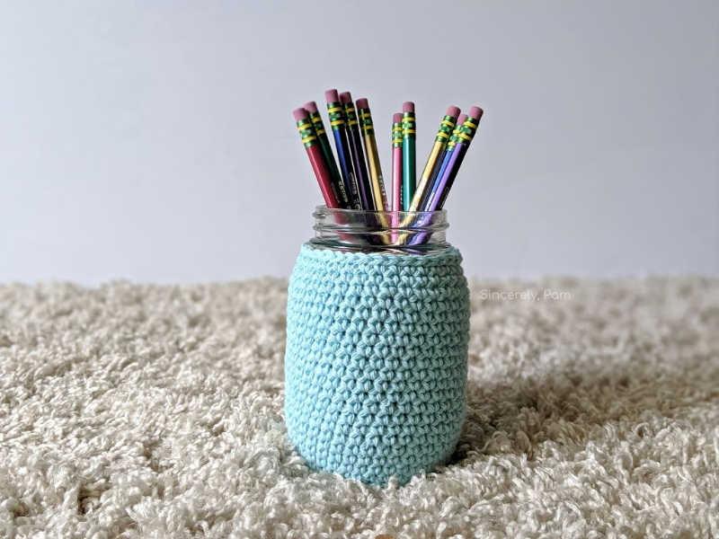mason jar cozy easy for beginner crochet
