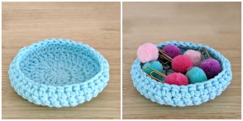 small bowl easy for beginner crochet