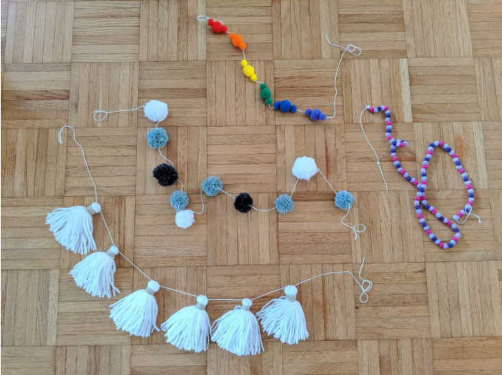 pom pom and tassel garland tutorial by sincerely pam