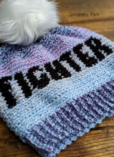 Fighter Beanie tapestry crochet pattern