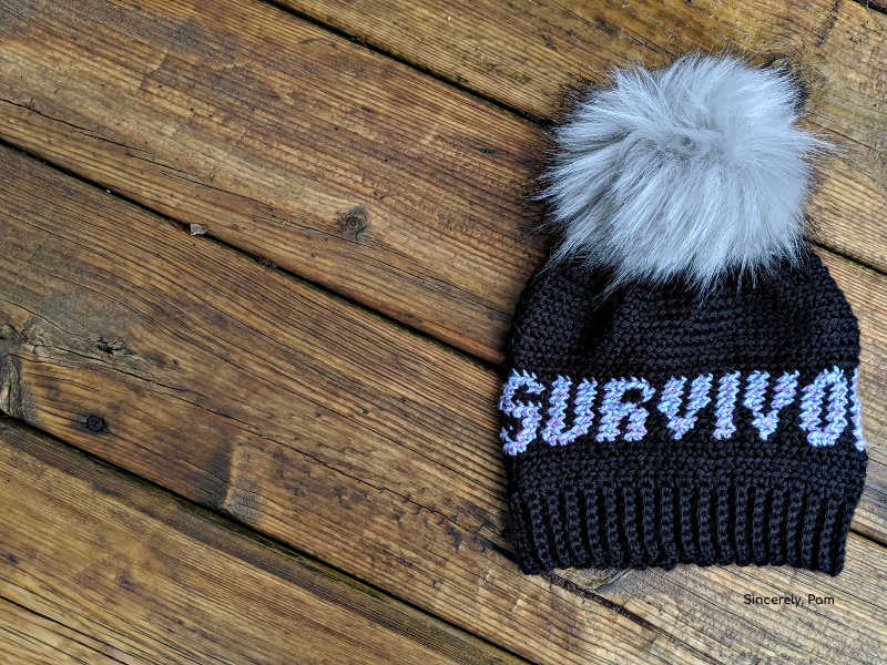 survivor beanie tapestry crochet pattern by sincerely pam. As part of the 2019 cancer challenge
