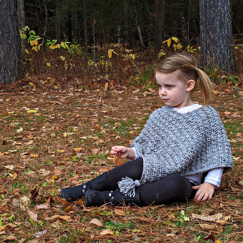 Ragged Falls Poncho free crochet pattern by Sincerely, Pam