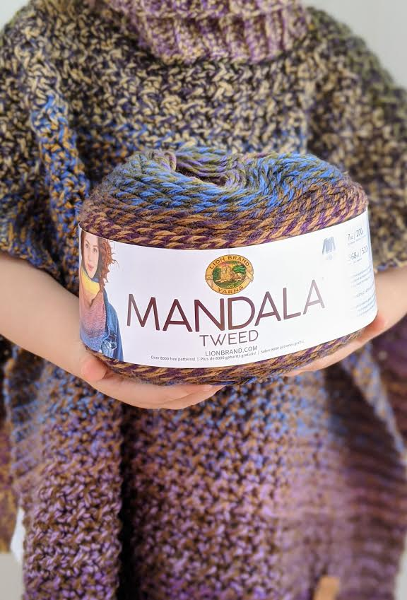 Lion Brand Mandala Tweed yarn review for Yarn Canada