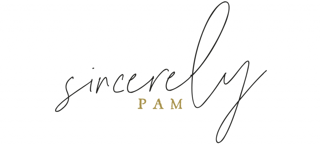 sincerely pam signature