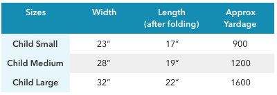 Lucky Penny Poncho size chart