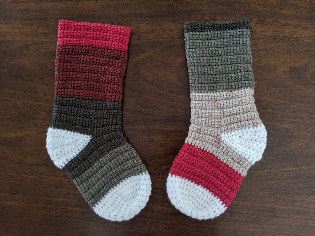 Alex Christmas Stocking free crochet pattern.
