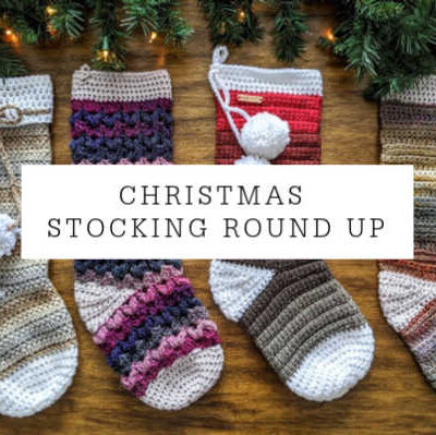 Crochet Christmas Stocking Pattern Round Up!