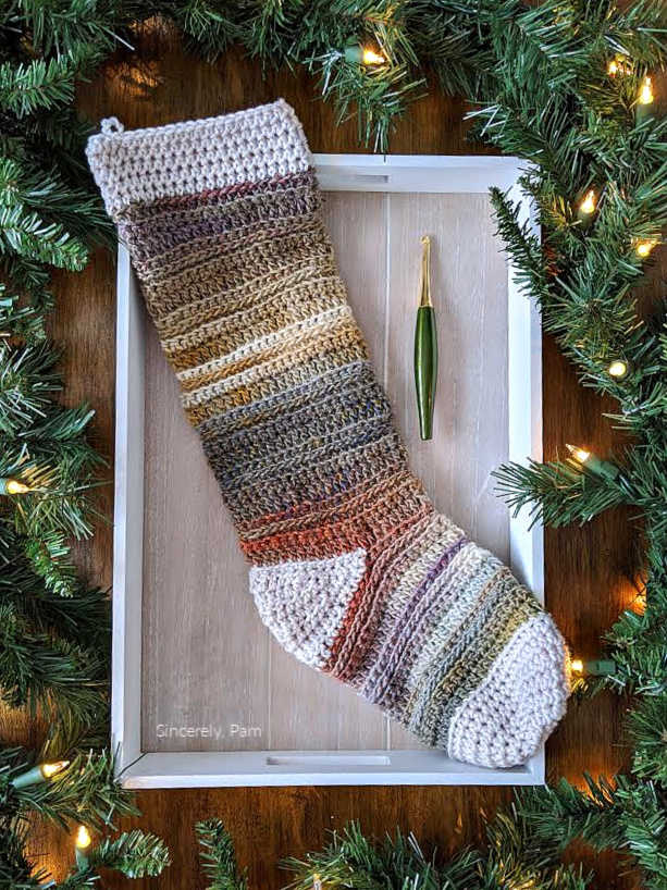 Danielle Stocking crochet pattern by sincerely pam