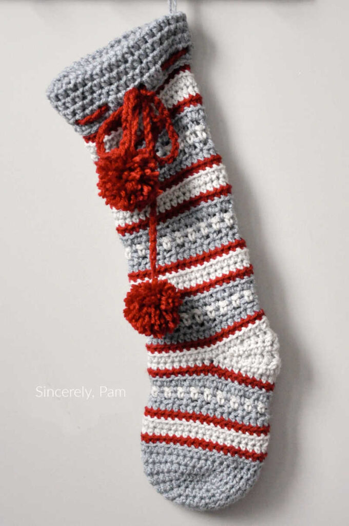 Dylan Christmas Stocking crochet pattern by sincerely pam