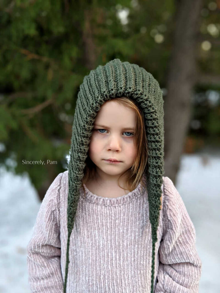 Ever After Hood crochet pattern by Sincerely, Pam
