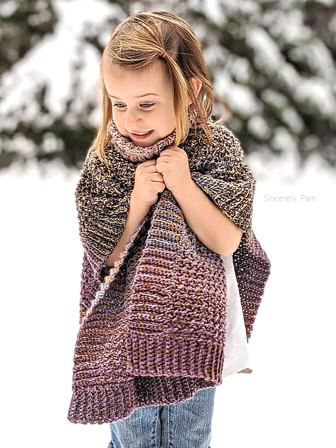 lucky penny crochet poncho pattern by Sincerely Pam