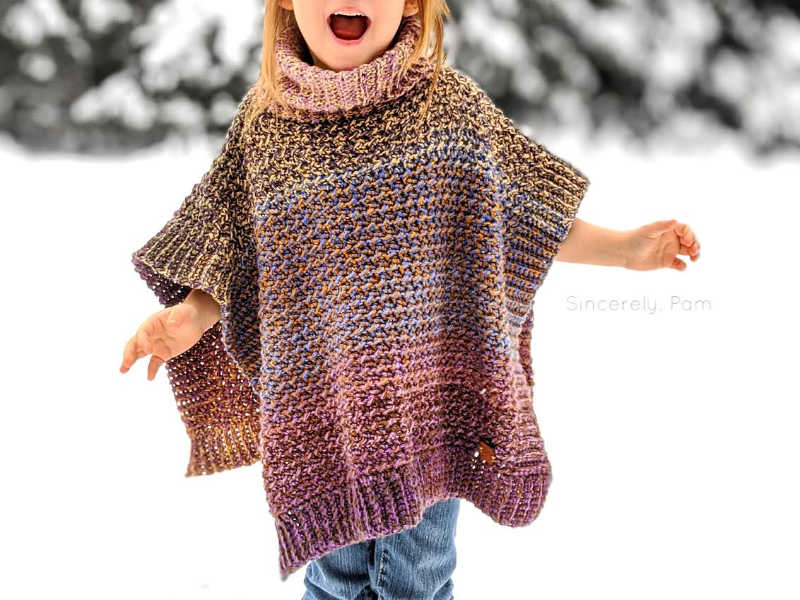 lucky penny poncho crochet pattern by sincerely pam