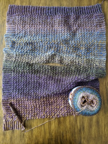 Lucky Penny Poncho work in progress.