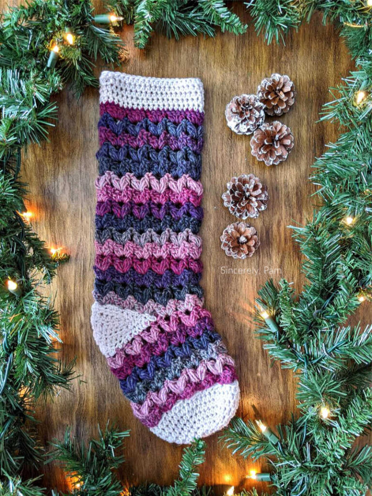 Victoria Stocking crochet pattern by sincerely pam