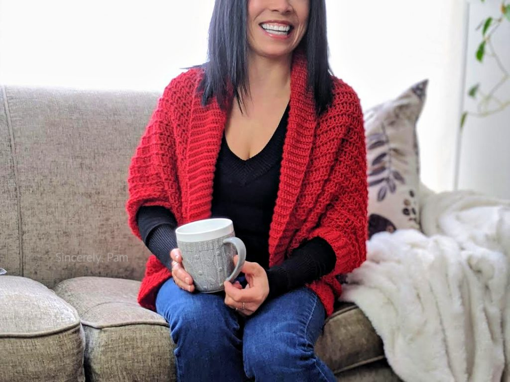 ragged falls cocoon shrug in ladies sizes