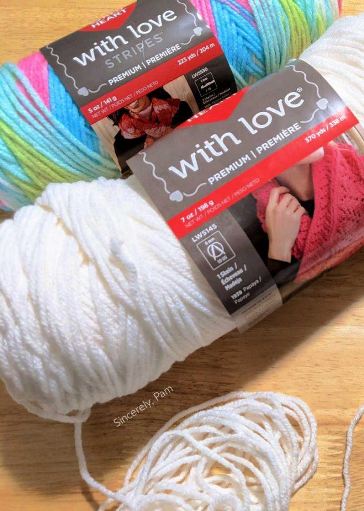 red heart yarns with love and with love stripes