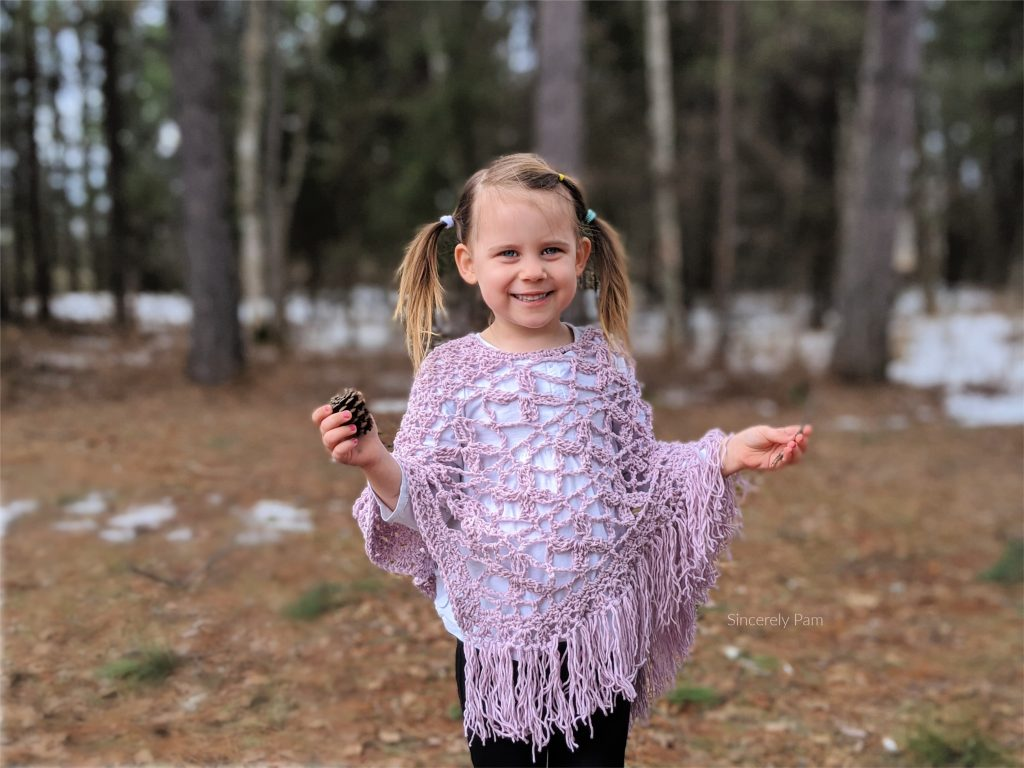 The Butterfly Breeze Poncho crochet pattern by Sincerely Pam