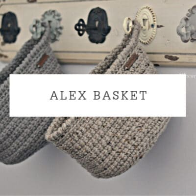 Alex Basket Crochet Pattern | Plant Pot Cover and Container