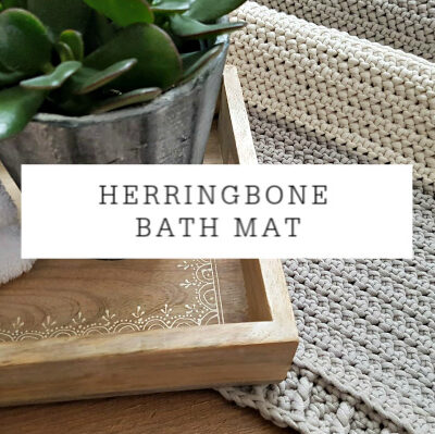 Herringbone Bath Mat | Crochet Pattern