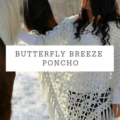 Butterfly Breeze Poncho Free Crochet Pattern