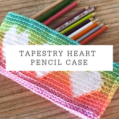 Tapestry Heart Pencil Case | Free Pattern