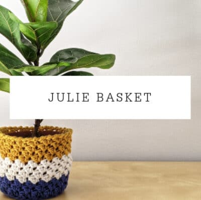 Julie Basket Crochet Pattern | Planter Cover Free Pattern
