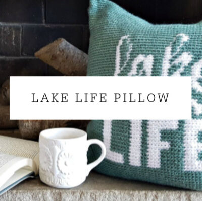 Lake Life Pillow Crochet Pattern