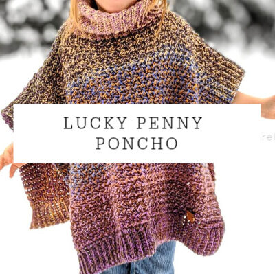 Lucky Penny Poncho Child Sizes| Free Crochet Pattern