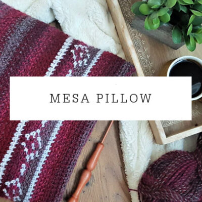 Mesa Pillow | Free Crochet Pattern