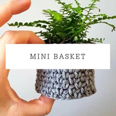 Mini Granite Stitch Basket | Free Pattern
