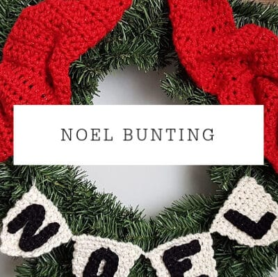 NOEL Wreath Bunting | Free Pattern