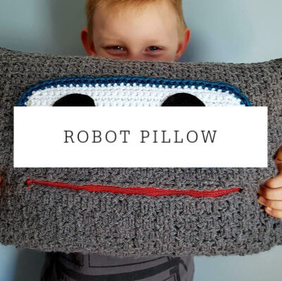 Robot Pillow Crochet Pattern