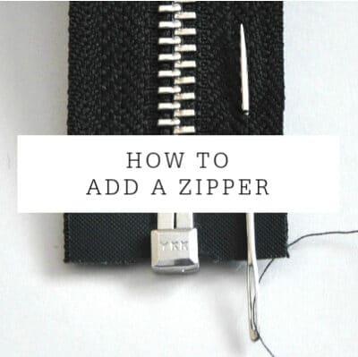 Adding A Zipper | Tutorial