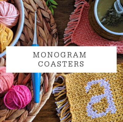 Monogram Coasters Crochet Pattern